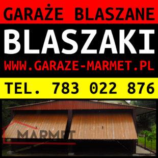 Producent garaży blaszanych, garaże blaszane